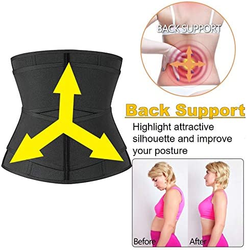 DEYACE Waist Trainer for Women Weight Loss Everyday Wear Neoprene Sweat Belt Waist Trimmer Plus Size 5