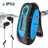 Waterproof MP3 Player with Screen,Swimming MP3 Player with Rotatable Clip, IPX8 Headphones for Running Water Sports,AGPTEK S07E 8GB Music Player Support FM, Shuffle (Upgrade Version)