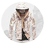 Love super store-outerwear Military Tactical Jacket Men Waterproof Coat Camouflage Hooded Army Camo Clothing,Desert camo,XL