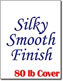 Silky Smooth White Cardstock for Inkjet & Laser Printers (8 1/2' x 11') - Heavyweight 80lb Cover (50 Sheets)