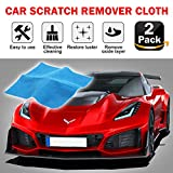 2 Pack Multipurpose Scratch Remover Cloth, 2019 Upgraded Car Paint Scratch Repair - Nano Car Scratch Repair Kit for Repairing Light Paint Scratches Remover Scuffs on Surface and Strong Decontamin