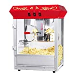 Great Northern Popcorn Company 83-DT5655 Northern Popcorn Company 6129 All Star GNP-850 Classic Style Top Popper Machine, 8 oz, Red, Counter Floral