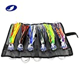 OCEAN CAT Set of 6 6'' inch Offshore Big Game Trolling Lure for Marlin Tuna Mahi Dolphin Durado Wahoo Trolling Lures Free Mesh Bag