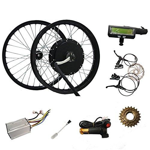 "QSMOTOR 191.6"" 3000W E-bicycle Spoke Hub Motor Conversion Kits Rear Wheel Hub Motor Kits with Controller"