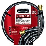 Craftsman Premium Rubber Garden Hose, 100ft. X 5/8. Inch