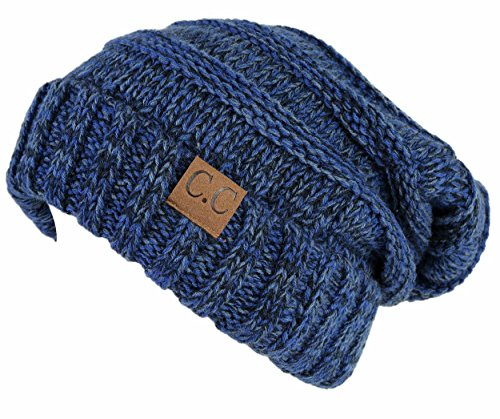 H-6100-6231 Oversized Slouchy Beanie - Midnight Blue