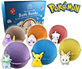 Bath Bombs For Kids with POKEMON TOYS INSIDE - Kids Bath Bombs with Surprise Inside - Bath Bombs Gift Set for Girls & Boys - Multicolored Organic Bubble Bath Bombs - Natural and Safe For Kids