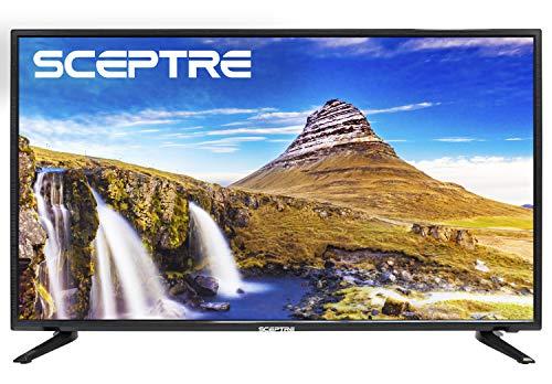 Sceptre X415BV-FSR 40″ Slim LED FHD 1080p TV Flat Screen HDMI MHL High Definition and Widescreen Monitor Display ATSC/QAM 3 x HDMI Ports, Metal Black (2019)