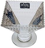 Majestic Giftware LASHBL Glass Salt Walter Holder Plate, 2.5-Inch