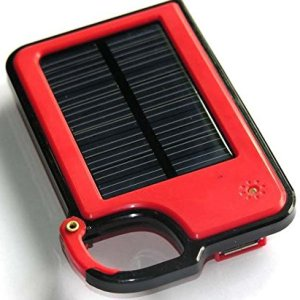 Solar Panel Power Bank USB External Battery Charger, 2600mAh Power Back-up, Compact & Portable, Added New Clip-on Feature