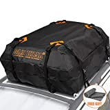 Rooftop Cargo Bag - (15 Cubic Feet) Heavy Duty Roof Bag - 100% Waterproof Excellent Quality Car Top Carrier Bag Fits All Cars with Rack - Roof Top Car Bag