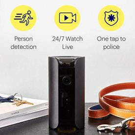CANARY-View-Indoor-Security-Camera-1080p-HD-Wide-Angle-Lens-Motion-activated-Alerts-ALEXA-iOS-Android-Google-Add-1YR-Premium-Service-Plan-FREE-w-Promotion-Black