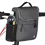 RAYSUN Bicycle Handlebar Bag with Waterproof Cover - Messenger Bag with Handle Fits 10' Tablet 5L Large Capacity
