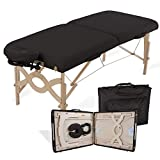 EARTHLITE Portable Massage Table Package AVALON - Reiki Endplate, Premium Flex-Rest Face Cradle & Strata Cushion, Carry Case (30'x73')