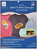 June Tailor JT855  8-1/2-Inch by 11-Inch Dark T-Shirt Inkjet Transfers, 3-Pack