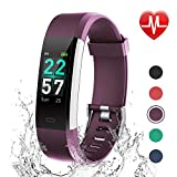 LETSCOM Fitness Tracker Color Screen, Activity Tracker with Heart Rate Monitor, Sleep Monitor, Step Counter, Calorie Counter, IP68 Waterproof Smart Pedometer Watch for Men Women Kids