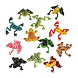 Fun Express - Mini Vinyl Frogs (6dz) - Toys - Character Toys - Action Figures - 72 Pieces