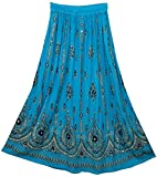 """Product review of 1X Size 17"""" Relax Belt Rayon Skirt Indian Tq Hippie Gypsy Retro Falda Women"""