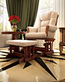 Product review for Naomi Home Deluxe Multiposition Sleigh Glider and Ottoman Set Cherry/Cream