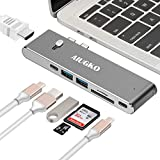USB C Hub, Aiugko Type C Adapter 4K HDMI (30Hz), USB 3.0 SD/TF Card Reader, PD Charge Port,  2 USB 3.0 Ports, 2 USB-C Data Port for Type c Devices MacBook Pro 2018/2017 UltraBook USB C   Devices