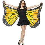 Fun World Women's Soft Butterfly Wings Adult Costume Accessory, orange, Standard