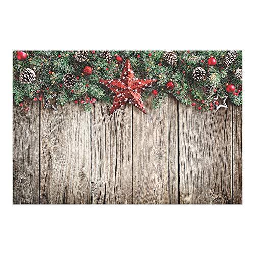 Christmas Barnwood Design Backdrop Banner