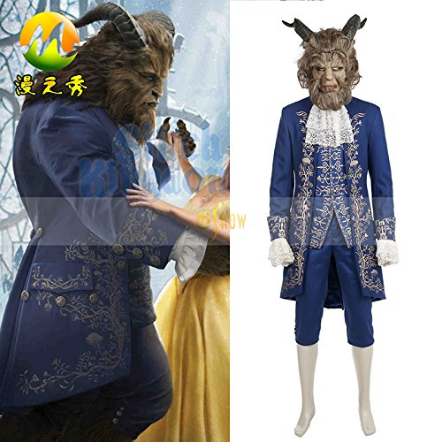 Beauty and the Beast Beast Costume And Helmet Cosplay(Please send me email tell me your size )