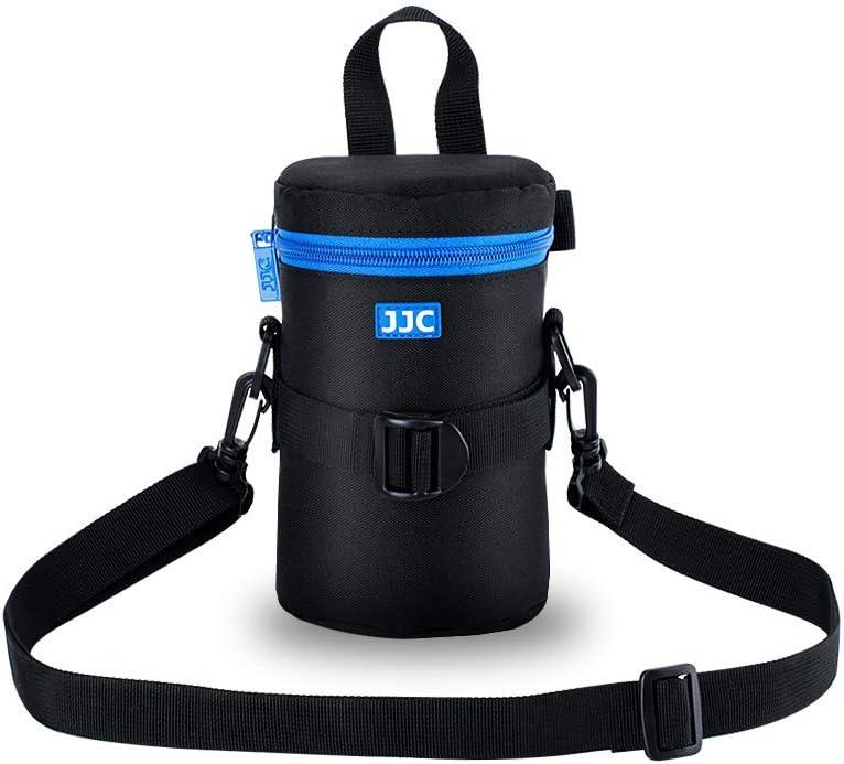 """DSLR Camera Lens Pouch JJC Lens Bag Case for Canon 100-300mm 75-300mm 24-70mm 55-250mm 135mm Nikon 55-300mm 70-300mm Tamron 10-24mm for Lens with 3.15*6.69"""""""