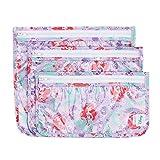 Bumkins Disney Ariel TSA Approved Toiletry Bag, Travel Bag, PVC-Free, Vinyl-Free, Clear Front, Set of 3