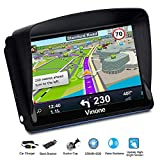 GPS Navigation for Cars, 7-inch Portable Car GPS Navigation System, Built-in 8GB-256MB Real Voice Turn Alarm Satellite Navigator.Lifetime Free Map Updates