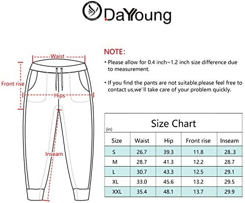 DAYOUNG Women's Yoga Jogger Sweatpants Lounge Workout Running  Pants Drawstring Pockets 6
