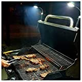 BRIGHT EYES - Magnetic Barbecue BBQ Light Set for Grilling - 6 Alkaline AAA Batteries Included - Works on All Grills with an Exception to Stainless Steel.