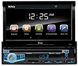 BOSS Audio BV9976B Car DVD Player - Single Din, Bluetooth Audio & Hands-Free Calling, Built-in Microphone, CD/MP3/USB/SD Aux-in, AM/FM Radio Receiver, 7' Digital LCD Display, Multi-color Illumination