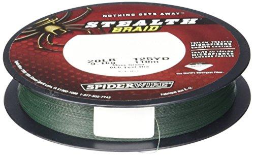 SpiderWire Stealth, Moss Green, 50/14 Pound Test-500 Yard