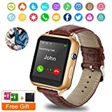 Smart Watch,Bluetooth Smartwatch Touchscreen with Camera, Smart Watches Waterproof Smart Wrist Watch Phone Compatible Android for Men Women Kids (Black)