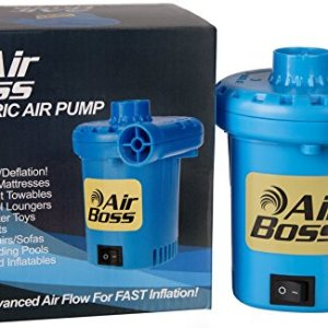Air Boss 120V Electric Air Pump for Inflatables, Super Fast 1,000 Liters (264 Gallons) Air Per Minute, 3-4 Times Faster than Most, 2019 Enhanced, Mattress, Boat, Raft, Pool Floats, Airbed 51F2iU14q0L