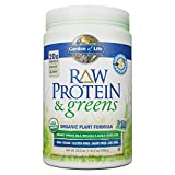 Garden of Life Greens and Protein Powder - Organic Raw Protein and Greens with Probiotics/Enzymes, Vegan, Gluten-Free, Vanilla, 19.3oz (1lb 3 oz/548g) Powder,Package may vary