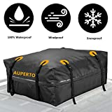 AUPERTO Cargo Bag, Waterproof Roof Storage Bag Compatible Truck ATV Canvas Jeep(15 Cubic Feet)