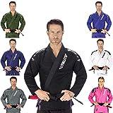 Elite Sports New Item IBJJF Ultra Light BJJ Brazilian Jiu Jitsu Gi w/Preshrunk Fabric & Free Belt Black A0