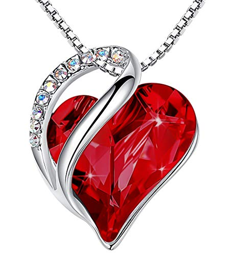 Infinity Love Swarovski Crystal Heart Pendant Necklace