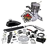 Zeda 80 Complete 80cc Bicycle Engine Kit - Firestorm Edition (Silver,44 Tooth)
