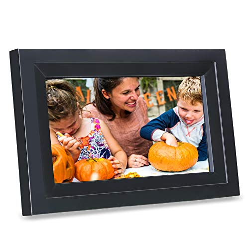 Digital Picture Frame, iDeaPLAY 10.1 inch WiFi Photo Frame, 1280×800 HD Display, 8GB Internal Storage, iPhone & Android App, Support Photo, Music, Calendar with Built-in Speakers