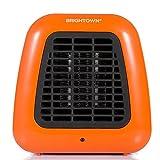 Brightown Personal Ceramic Portable-Mini Heater for Office Desktop Table Home Dorm, 400-Watt ETL Listed for Safe Use, Orange