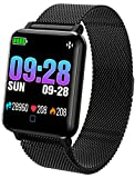 Fitness Tracker Heart Rate Monitor Blood Pressure Sleep Tracker Pedometer Calorie Activity Tracker Smart Watches for Men Women