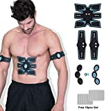 OSITO Abs Stimulator Muscle Toner Ab Trainer - Rechargeable EMS Abdominal Muscle Stimulator Portable Home Office Workout Equipment for Abs