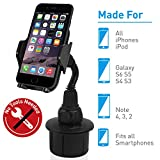 Macally Adjustable Automobile Cup Holder Phone Mount for iPhone Xs XS...