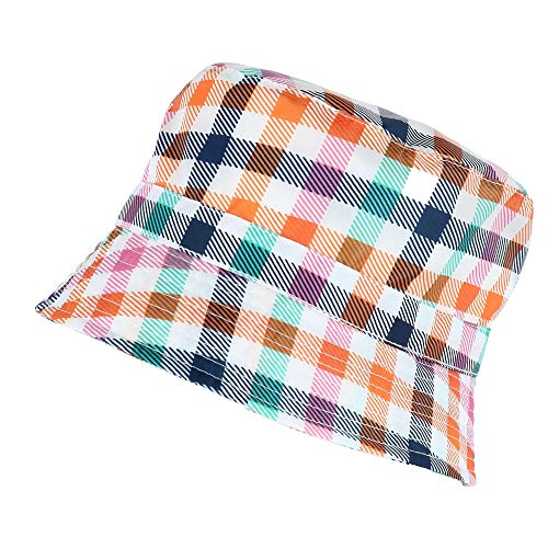 totes Women's Rainbow Gingham Rain Bucket Hat, Multi
