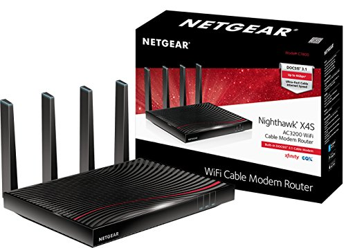 NETGEAR Nighthawk Cable Modem WiFi Router Combo C7800 - Compatible with all Cable Providers including Xfinity by Comcast and Cox | For Cable Plans Up to 2 Gigabits | AC3200 WiFi speed | DOCSIS 3.1