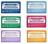 Dr. Bronner's Magic Soaps Pure-castile Soap Variety Gift Pack Sampler; 6 Assorted 5 Ounce Bars
