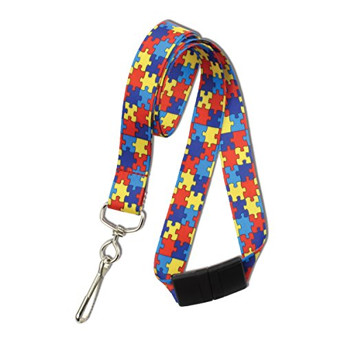 Red Autism Awareness Lanyard